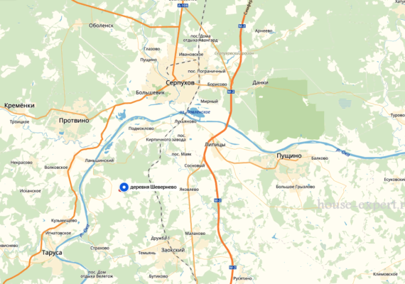 Посёлок Шевернево Заокского района.