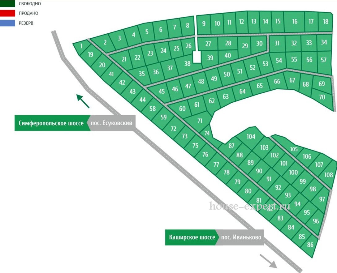 план участков в Белугино Ясногорский район