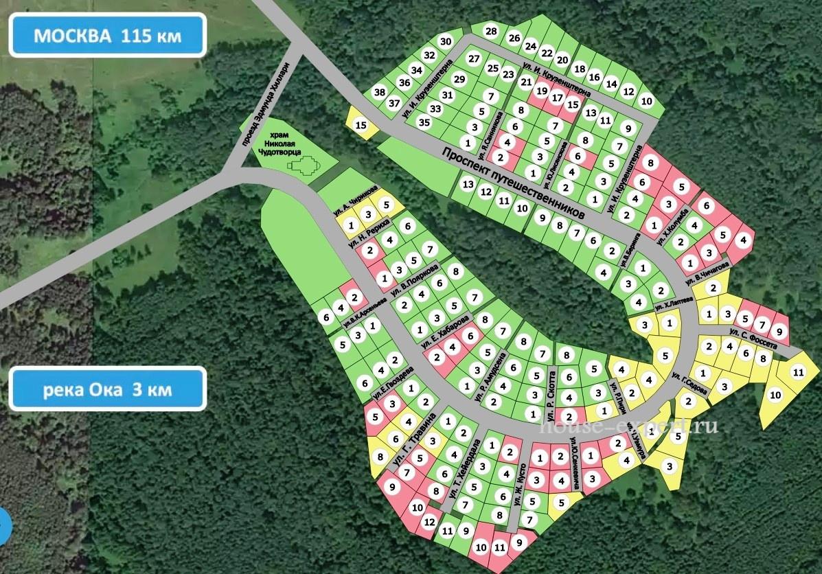 первая липия продаж земельных участков в деревне Фёдора Конюхова, Заокский район, Тульская область