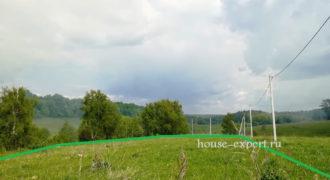 Участок к оврагу, 14 соток в деревне Вишенки, Заокского района.