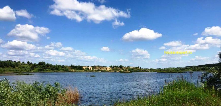 Участок 10 соток на берегу реки Ока, 90 км от МКАД