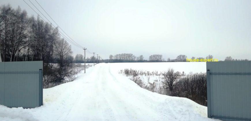 Дачный участок 12 соток, 105 км от МКАД, Домнинские дворы, Заокский район