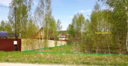 Участок 12 соток, крайний в деревне Скрипово